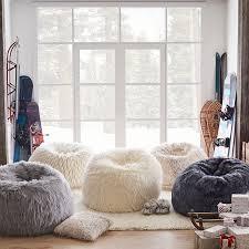 Winter Fox Faux Fur Beanbag