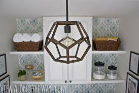 DIY Geometric Light Made To Look Like An Expensive Ralph Lauren
