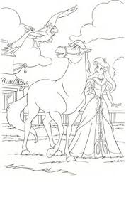 Disney Princess Horse Coloring Pages