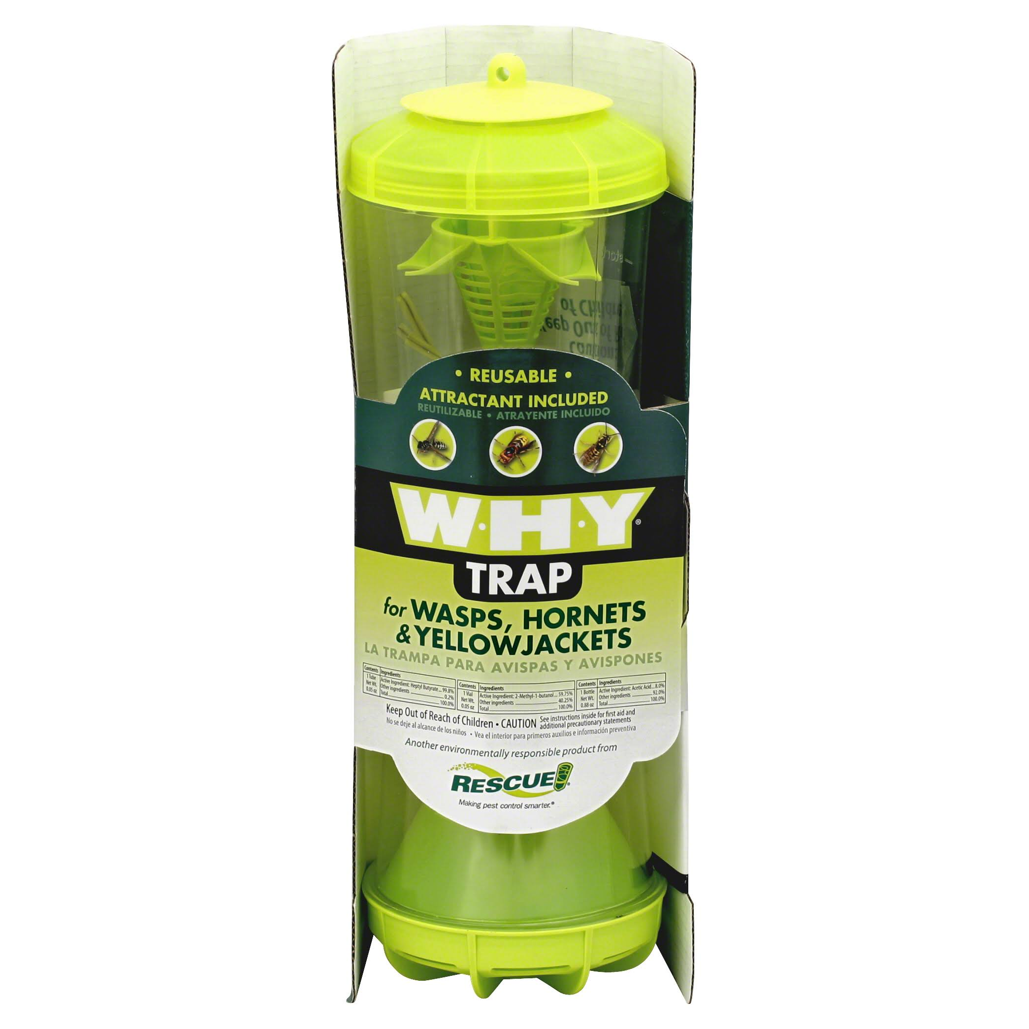 Rescue! Why Trap Non-Toxic Reusable Trap for Wasps, Hornets and Yellow Jackets