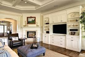 Built In Cabinets Living Room For Family Traditional With