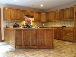 Pickled Oak Cabinets Glazed by Cabinet Hardware For Oak Cabinets With Are Outdated Dining Kitchen