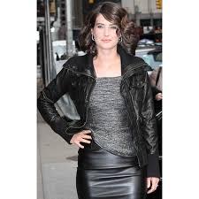 cobie smulders leather jacket women u0027s black bomber jacket