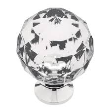 Dresser Knobs Home Depot by Liberty 1 3 16 In Chrome With Clear Faceted Acrylic Ball Cabinet