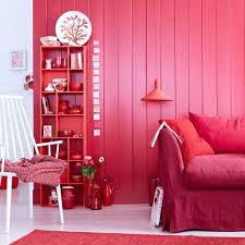 wandfarbe wohnideen mit eine wand in rot living at home