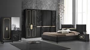 schlafzimmer komplett set beata in schwarz gold 5 teilig