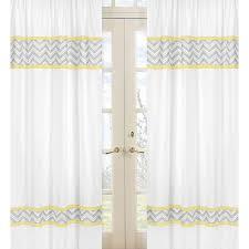 and grey zig zag 84 inch curtain panel