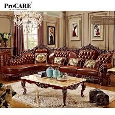 canape d angle bois en bois massif en cuir véritable canapé d angle ensemble l