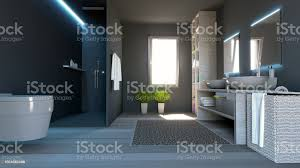 modernes badezimmer komplett mit armaturen dusche und wohnaccessoires stockfoto und mehr bilder architektur