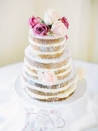 Rustic Gold Naked Wedding Cake Ireland