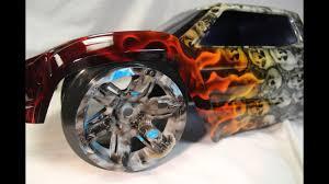 100 Skull Truck Rims FIre And S X MAXX Body X Maxx CUSTOM RImS Custom Painted YouTube