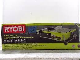 Ryobi Tile Saw 7 by Techtronic Industries Ws722 Ryobi 7 In Tabletop Tile Saw Picclick
