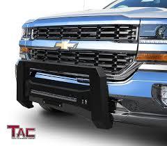 100 Bull Bars For Chevy Trucks TAC Predator Mesh Version Modular Bar For 20072018