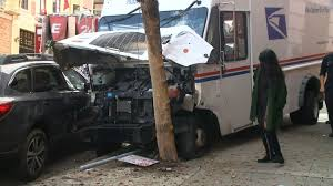 100 Truck San Francisco Medical Emergency Leads USPS Driver To Crash In