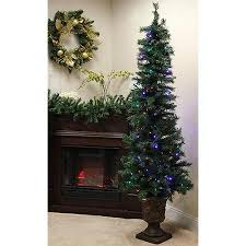buy 6 39 pre lit potted monticello artificial christmas tree