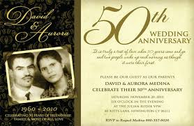 Fiftieth Wedding Anniversary Invitations 50th