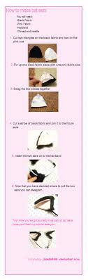 how to make cat ears cat ears tutorial by basteth66 on deviantart