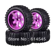 4xRC Monster Truck Bigfoot Metal 1:10 Wheel Rim & Tyre Tires 12MM ...