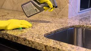 cleaning tile and counter tops with aqua mix