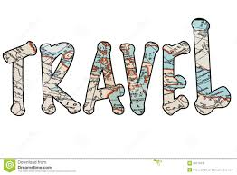 Picture Of The Word Travel Isolated On A White Background With Map Inserted Stock Photo Images And Photography