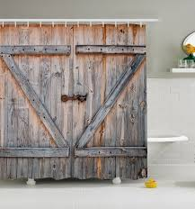 Rustic Barn Door Shower Curtain Wood Plank Farm Vintage Distressed ... Vintage Barn Door Wrought Bars On Wooden Doors Stock Image Royalty Double Barn Door Hdware Kit More Colors Available Picturesque Grey Finished Interior For Homes With 2perfection Decor Antique As Our Laundry Room Industrial Spoked European Sliding Closet 109 Best Images On Pinterest Doors Large Hinges Unique Old Inspiration Of Lot Wonderful 30 Reclaimed Wood Ideas That We Love Southern Styles And Images Design Small Hdware Home Exterior Fold Bathroom