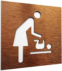 aluminium türschild für baby wechselstation modernes