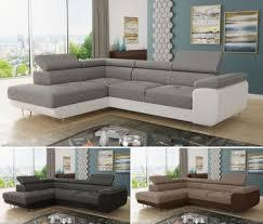 ecksofa caris mit schlaffunktion sofa wohnlandschaft einstellbare kopfstützen