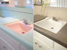 Bathtub Refinishing Saint Louis by Ugly Cultured Marble Tub Before On Left Beautifully Refinish