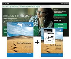 Earth Science Global Edition Mastering Geology With Pearson EText