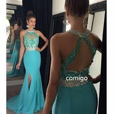 prom dresses halter prom dress mermaid prom dresses blue prom