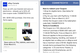 TECH COUPON ALERT - The EBay Canada Community 10 Off 50 Flash Sale On Ebay With Code Cfebflash10off Redemption Code Updated List For March 2019 Discount All Smartphones From 17 To 21 August I Have A Coupon For Off The Community 30 Targeted Ymmv Slickdealsnet Ebay 70 Mastrin 24 Fe Card Electronics Beats Headphones At Using Mastercard Genos Garage Inc Codes Bbb Coupons How To Get An Extra Margin On Free Coupon Codes Dropshipping 15 One Time Use Allows Coins This