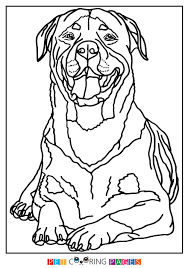 Rottweiler Coloring Page Hera