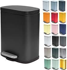 spirella kosmetikeimer 5 liter edelstahl mit absenkautomatik und inneneimer badezimmer mülleimer softclose abfalleimer schwarz matt