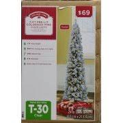 Pre Lit Pencil Cashmere Christmas Tree by Holiday Time Pre Lit 7 U0027 Colorado Flocked Pencil Artificial