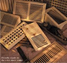 Decorative Return Air Grille Canada by Wood Vent Source Wood Vents Wood Floor Vents Hvac Air Grilles