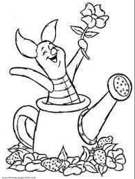 Piglet Winnie The Pooh Color Page Disney Coloring Pages Plate Sheet