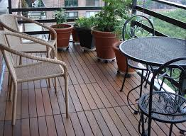ipe wood deck tiles installed on a 19th floor balcony in nyc
