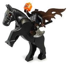 The Haunted Pumpkin Of Sleepy Hollow 2003 by The Headless Horseman Lego Halloween Minifigure With Pumpkin Head