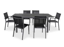 Sumatra Metal 6 Seater Armchair Dining Set