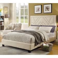 Roma Tufted Wingback Headboard Dimensions by Skyline Tufted Arch Shantung Upholstered Bed Hayneedle