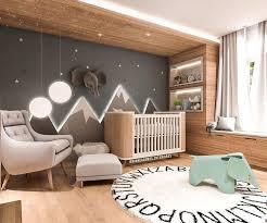babyzimmer inspiration beleuchtete berge