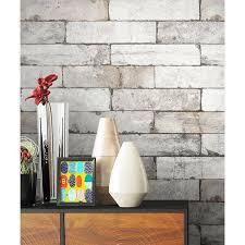 newroom vliestapete steintapete tapete grau steinoptik wohnzimmer ziegelstein backstein mauerwerk klinker