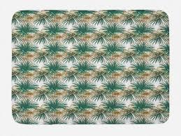 badematte plüsch badezimmer dekor matte mit rutschfester rückseite abakuhaus dschungel laub lange blattpflanzen kaufen otto