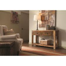 Accent Cabinets Rustic Console Table W Drawers