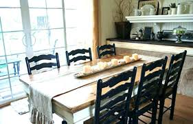 Modern Farmhouse Table And Chairs Dark Wood Farm Style Dining Room