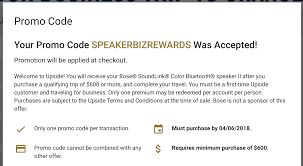 Free $150 Or Bose Soundlink Speaker II With $600 Upside.com ...