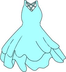 Pale Blue Dress PNG Images
