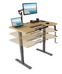 Jesper Sit Stand Desk Staples by Adjule Desktop Standing Desk