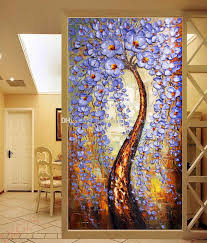 Free Shipping The Tree Of Life Wallpaper Knife Painting Wall Mural Custom 3D Bedroom Living Room Hallway Hotel Art Decor Printing On Canvas