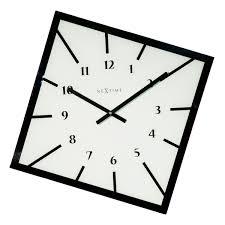 nextime balance wall clock kitchen clock clock office clock living room clock decoration glass white 8176wi at about tea de shop